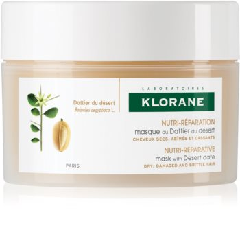 Klorane Desert Date θρεπτική μάσκα για εύθραυστα και ταλαιπωρημένα μαλλιά