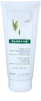 Klorane Oat Milk condicionador suave condicionador suave  para fácil penteado de cabelo