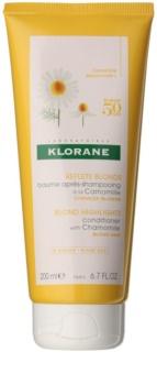 Klorane Chamomile acondicionador iluminador  para cabello rubio