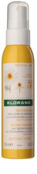 Klorane Chamomile cuidado sin aclarado para reavivar el color del cabello rubio