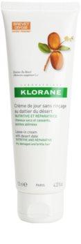 Klorane Desert Date cuidado en crema sin aclarado para cabello castigado y quebradizo