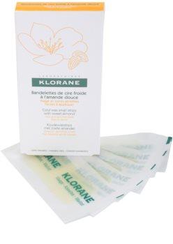 Klorane Hygiene et Soins du Corps bandes de cire pour épilation visage et zones sensibles