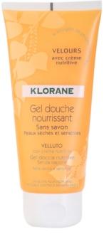 Klorane Hygiene et Soins du Corps Velours gel de banho nutritivo