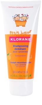 Klorane Junior dětský šampon s vůní broskve