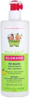 Klorane Junior gel za tuširanje za tijelo i kosu s mirisom kruške