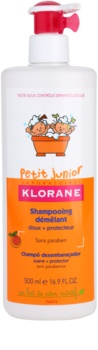 Klorane Junior Lasten Hiustenpesuaine Persikan Aromien Kanssa