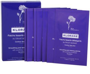 Klorane Cornflower adesivis relaxantes e suavizantes  para o contorno dos olhos