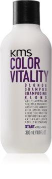 KMS California Color Vitality vyživujúci šampón pre blond a melírované vlasy