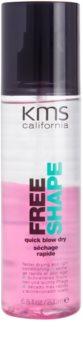 KMS California Free Shape spray sem enxaguar para secagem mais rápida