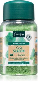 Kneipp Cold Season Eucalyptus sel de bain aux minéraux