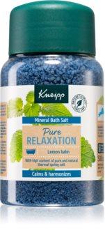 Kneipp Pure Relaxation Lemon Balm sel de bain aux minéraux