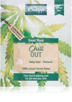 Kneipp Sheet Mask Chill Out maska łagodząca w płacie