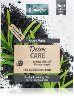 Kneipp Sheet Mask Detox Care plátýnková maska s detoxikačním účinkem