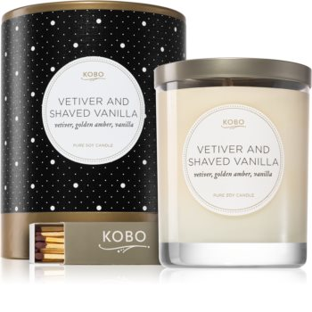 KOBO Coterie Vetiver and Shaved Vanilla illatos gyertya
