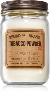 KOBO Broad St. Brand Tobacco Powder scented candle (Apothecary)