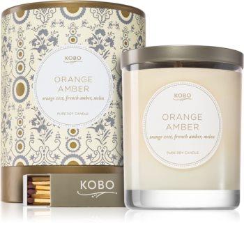 KOBO Motif Orange Amber illatos gyertya