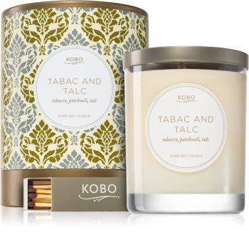 KOBO Motif Tabac and Talc candela profumata