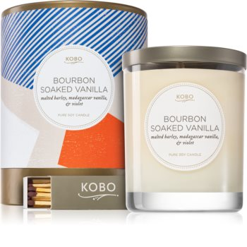 KOBO Natural Math Bourbon Soaked Vanilla lumânare parfumată