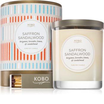 KOBO Natural Math Saffron Sandalwood świeczka zapachowa