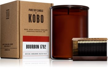 KOBO Woodblock Bourbon 1792 vela perfumada