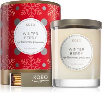 KOBO Holiday Winter Berry scented candle