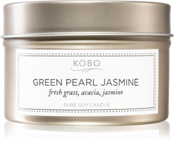 KOBO Coterie Green Pearl Jasmine scented candle in tin