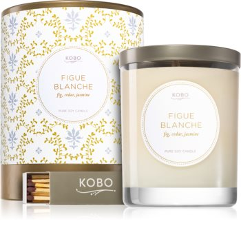 KOBO Motif Figue Blanche bougie parfumée