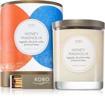 KOBO Natural Math Honey Magnolia ароматна свещ