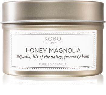KOBO Natural Math Honey Magnolia vonná svíčka v plechovce
