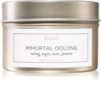 KOBO Camo Immortal Oolong scented candle in tin