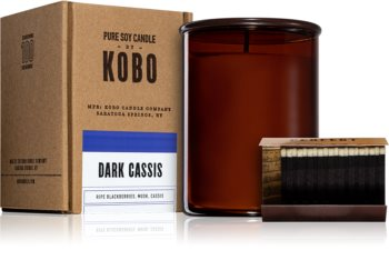 KOBO Woodblock Dark Cassis illatos gyertya