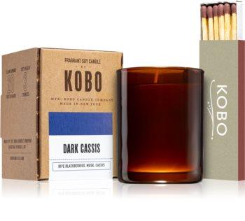 KOBO Woodblock Dark Cassis mala mirisna svijeća bez staklene posude