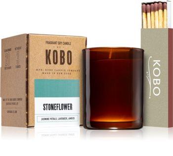 KOBO Woodblock Stoneflower votívna sviečka