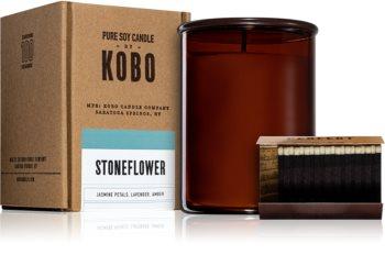 KOBO Woodblock Stoneflower Duftkerze
