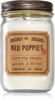KOBO Broad St. Brand Red Poppies bougie parfumée (Apothecary)