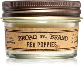KOBO Broad St. Brand Red Poppies Tuoksukynttilä I. (Apothecary)