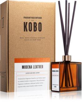 KOBO Woodblock Modena Leather aromadiffusor med opfyldning