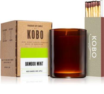 KOBO Woodblock Bamboo Mint votive candle