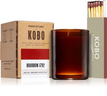 KOBO Woodblock Bourbon 1792 mala mirisna svijeća bez staklene posude