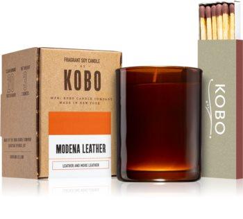 KOBO Woodblock Modena Leather bougie votive