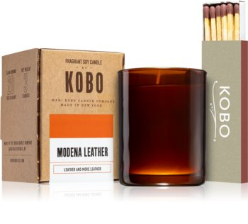 KOBO Woodblock Modena Leather votivna sveča