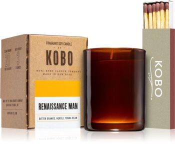 KOBO Woodblock Renaissance Man mala mirisna svijeća bez staklene posude