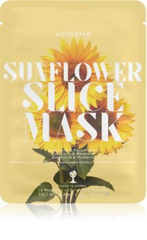 KOCOSTAR Sunflower Mask Sheet plátýnková maska se zpevňujícím účinkem