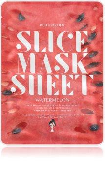 KOCOSTAR Slice Mask Sheet Watermelon Zellschichtmaske mit aufhellender und feuchtigkeitsspendender Wirkung