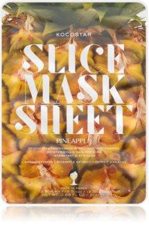 KOCOSTAR Slice Mask Sheet Pineapple plátýnková maska se zpevňujícím účinkem