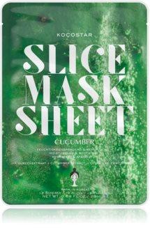 KOCOSTAR Slice Mask Sheet Cucumber upokojujúca plátienková maska s hydratačným účinkom