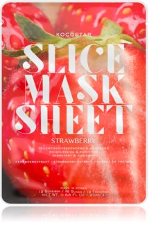 KOCOSTAR Slice Mask Sheet Strawberry Moisturising face sheet mask For Radiant Looking Skin