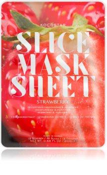 KOCOSTAR Slice Mask Sheet Strawberry хидратираща платнена маска за сияен вид на кожата