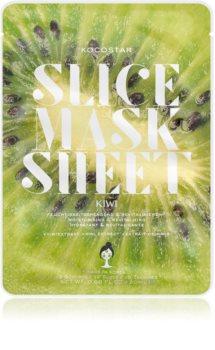 KOCOSTAR Slice Mask Sheet Kiwi Aufhellende Tuchmaske mit Vitamin C