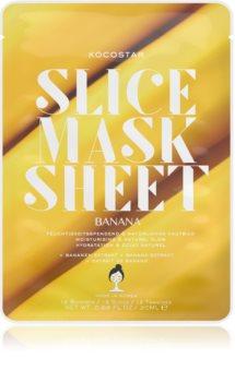KOCOSTAR Slice Mask Sheet Banana vyživujúca plátienková maska pre žiarivý vzhľad pleti
